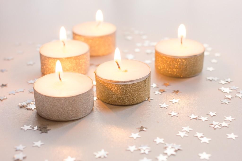 DIY bougies aux couleurs des fêtes