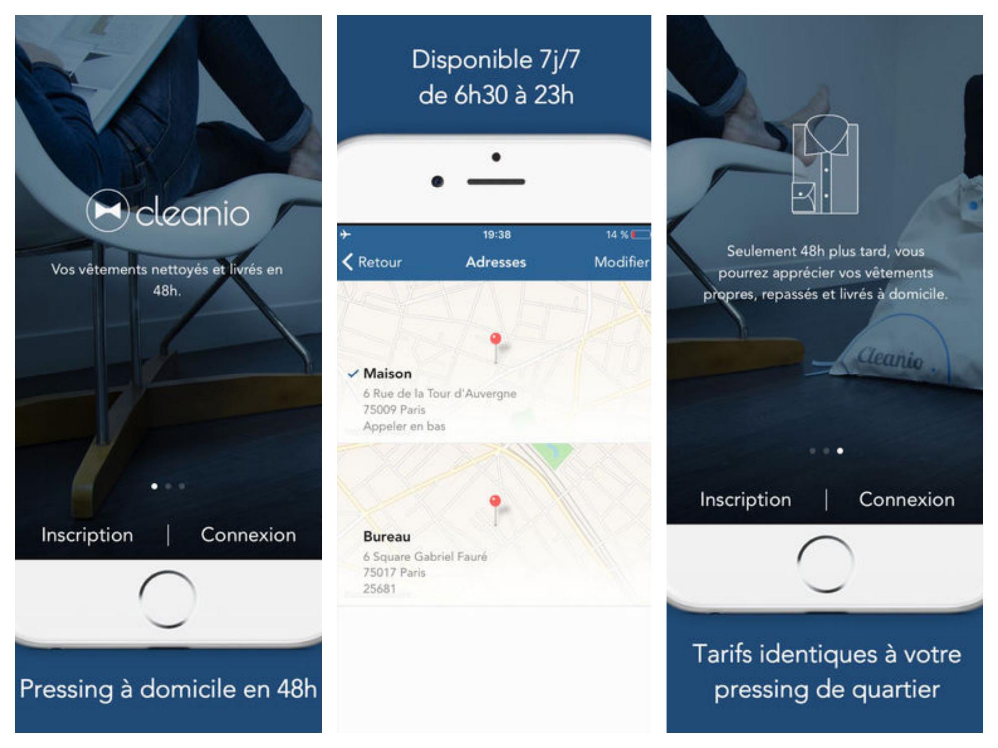 cleanio pressing domicile code promo blog avis revue test application