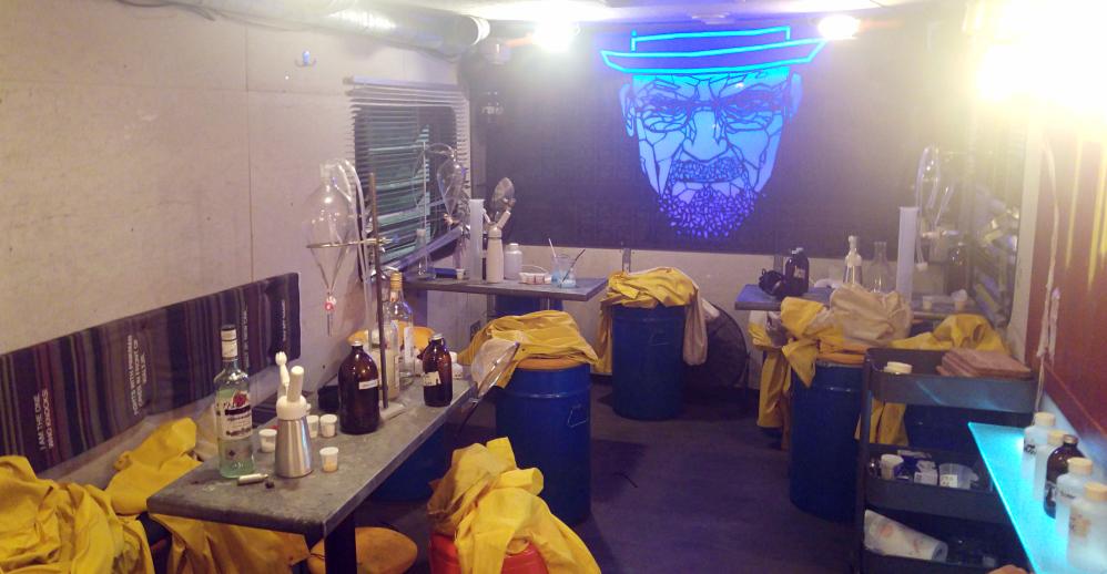 soirée abq london breaking bad rv camping car heisenberg avis revue blog walter white jessy pinkman